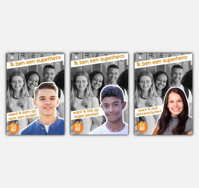 Posters Campagne Stichting Stop Pesten Nu